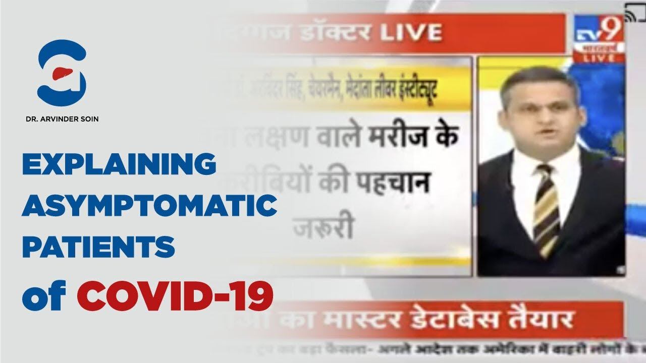 Explaining Asymptomatic Corona Virus on TV9 Bharatvarsh - Live Interview - COVID19 - Dr.AS.Soin