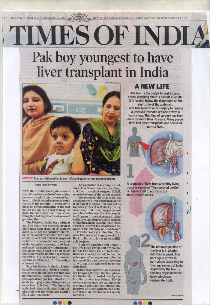 Pak boy youngest to have liver transplant in India
